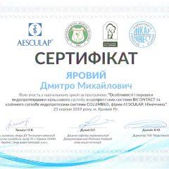 Certificate_Кривой Рог_2019-08-23